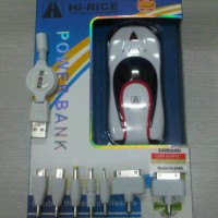Jual POWER BANK HI RICE 5400MAH CAR DESIGN Murah