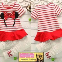 MICKEY CUTE STRIPE RED