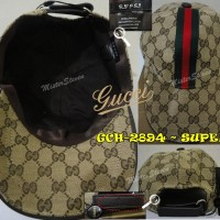 TOPI / HAT co/ce GCH-2894 kw SUPER Quality, Golden Cream Gucci Import