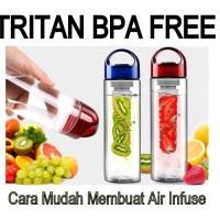 TRITAN WATER BOTTLE BOTOL MINUM TRAVEL BETO BPA FREE SARI BUAH FRUIT