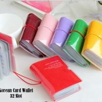 Korean Card Wallet 32 Slot (Dompet khusus kartu, muat 32 kartu, tutupnya bahan karet, kartu tebal tetap bisa ditutup)