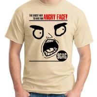 KAOS DISTRO ORDINAL 9GAG ANGRY FACE