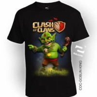 Kaos 3D Square - COC GOBLIN KING BIG SIZE