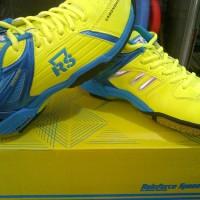 Sepatu Badminton / Bulutangkis RS Jeffer 800 Liga Lemon Blue