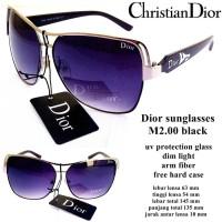 kacamata c.d sunglasses m2.00 black fullset