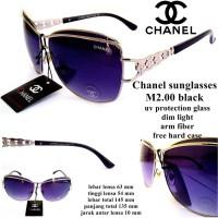 kacamata chenel sunglasses m2.00 black fullset