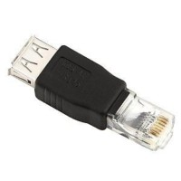 USB Female to RJ45 Ethernet Male Adapter