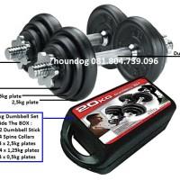 Dumbbell set 20kg Imported Quality [fiber grip]