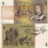 Uang Koleksi AUSTRALIA 1 DOLLAR 1983 JOHNSTON/STONE aUNC-UNC