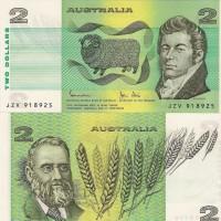 Uang Koleksi AUSTRALIA 2 DOLLAR 1983 JOHNSTON/STONE aUNC-UNC
