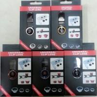 Jual Tangkai Panjang Universal Clip Lens 3 in 1 / Fisheye Lens Murah