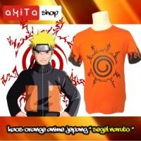 Baju / kaos Orange Sablon Anime jepang Segel NARUTO
