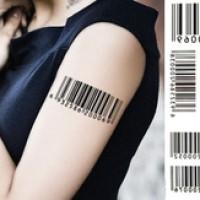 Barcode - Temporary Tattoo / Tato Temporer