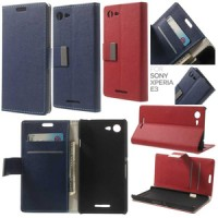 Jual Agenda Standing Leather Flip Cover Dompet Case Sony Xperia E3