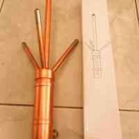 harga Tiang Penangkal Petir Model Trisula / Anti Petir + Pipa Besi 3/4 Tokopedia.com