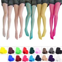 S/1 CGN 20D Girl Thin Candy Color Stocking Warna Warni