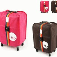 Jual Luggage Cover Pelindung Koper + BONUS FREE Belt Murah