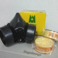 Masker Respirator Gas Corong /tabung Double | Blue Eagle Np 306