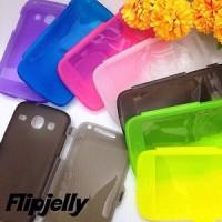 Flip Jelly Case Transparan Samsung Galaxy Core I8260 / I8262