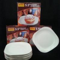 "SQUARE CAKE PLATE 5.5"" BISTRO (PIRING KUE) BO-MH13"