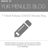 Ebook 7 Teknik Rahasia Sukses Menulis Blog
