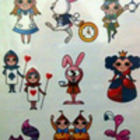 Alice in Wonderland - Potatoo Temporary Tattoo Import