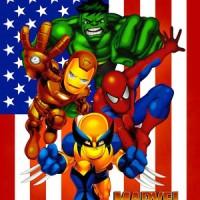 Selimut Tokoh Marvel Super Heroes