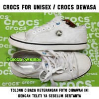 crocs original hover lace up white putih
