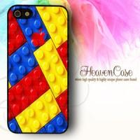 Apple Logo Lego, casing, Iphone 5/5s rubber case, soft, bumper, unik