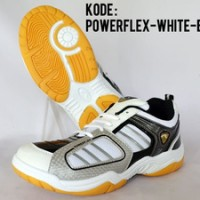 Sepatu Badminton Powerflex White Black