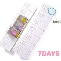 Kotak Obat Nama Hari untuk 1 Minggu
