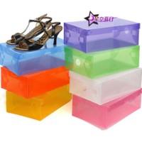 1 kg 15 pcs kotak sepatu plastic box shoes transparant sandal baju art
