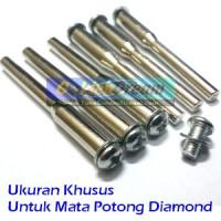 Batang As Khusus utk Mata Diamond Gerinda Potong Mini Grinder Tuner