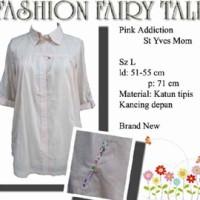 kemeja pink lis bunga-bunga merk St. Yves Mom sz.L