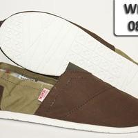 Sepatu Wakai Shoes 088 Coklat Ijo Sol Putih WKO-088