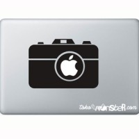Tokomonster Decal Sticker Camera Pix Macbook Pro and Air - Hitam