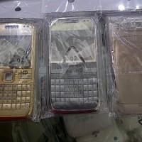 Casing Nokia Qwerty E72 Fullset Silver Hitam Krem Gold Original