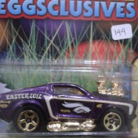 hot wheels die cast 69 mustang purple gold easter edition 2012