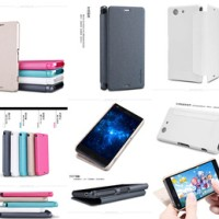 Jual Nillkin Sparkle Leather Flip Cover Case Sony Xperia Z3 Compact