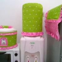 GKM, Sarung Galon-Tutup kulkas-Tutup Majicom Star Dottie Midori-Pink