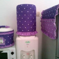 GKM, Sarung Galon-Tutup kulkas-Tutup Majicom Star Dottie Purple-Lilac