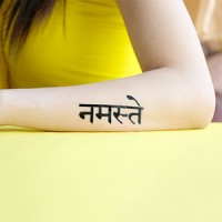 NAMASTE / NAMASKAR - Temporary Tattoo Import - by Potatoo