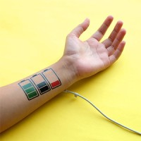 BATTERY - Temporary Tattoo Import - by Potatoo