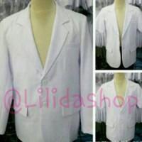 baju / jas dokter cowok lengan panjang merk 2 ( dua) saudara
