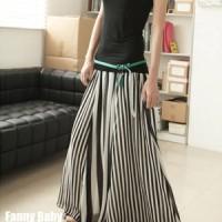 SC5ZGB2D ROk Panjang Hijab Motif Garis Garis - Striped Long Skirt