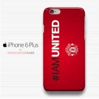 #IAMUNITED Manchester United Logo iPhone 6 Plus Cover Hard Case