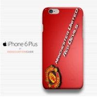 Red Devil Manchester United Logo 2 iPhone 6 Plus Cover Hard Case