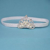 HB Queen Baby Tiara Crown White CL26150