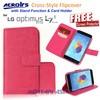 Flipcover LG Optimus L7-II Dual P715 : ACROlrs Cross-Style ( +FREE SP)