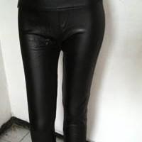 Legging Latex Kulit Black
